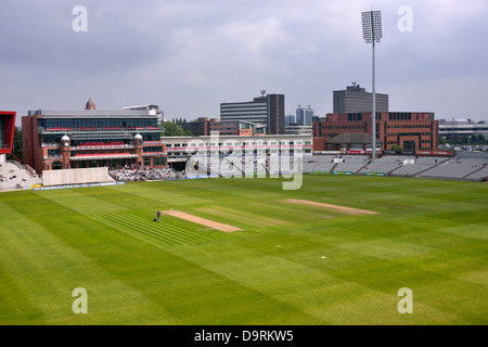 the renovated pavilion at emirates old trafford, manchester, uk - Stock Photo