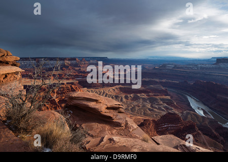 the Colorado Valley from Dead Horse Point, Utah, USA - Stock Photo