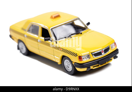 Toy yellow taxi cab - Stock Photo