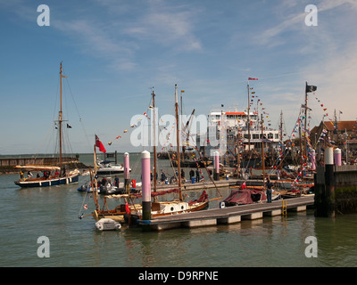 Yarmouth Isle of Wight England UK during the 2013 Old Gaffers Festival - Stock Photo