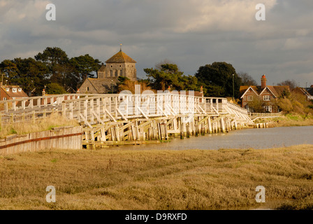 The Old Toll Bridge across the River Adur - Shoreham-By-Sea, West Sussex. - Stock Photo