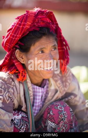 a lady, Inle Lake, Myanmar (Burma) - Stock Photo