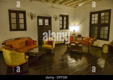 interior of the historic old Jewish Koder House in Fort Cochin (Kochi) in Kerala, India - Stock Photo