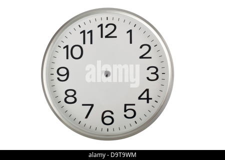 Clock face without the hands isolated on white background - Stock Photo