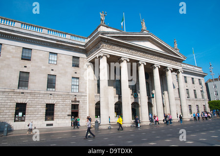 The General Post Office building (1818) O'Connell street central Dublin Ireland Europe - Stock Photo