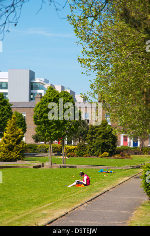 Pearse Square park Docklands area central Dublin Ireland Europe - Stock Photo