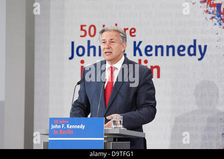 Berlin, Germany. 26th June 2013. 50th Anniversary of the the speech of the former U.S. President John F. Kennedy, - Stock Photo