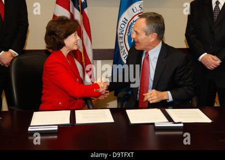 CBP & CPSC Sign Agreement. - Stock Photo
