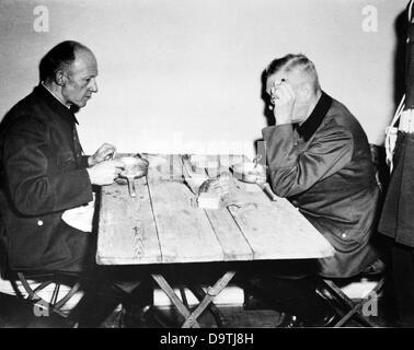 Wilhelm Keitel (r), head of the Supreme Command of the German Wehrmacht (OKW), and Ernst Kaltenbrunner (l), Chief - Stock Photo