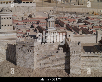 Israel Museum model of ancient Jerusalem - Stock Photo