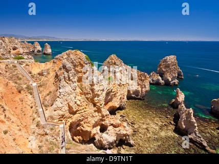 Ponta da Piedade Lagos Algarve Portugal EU Europe - Stock Photo