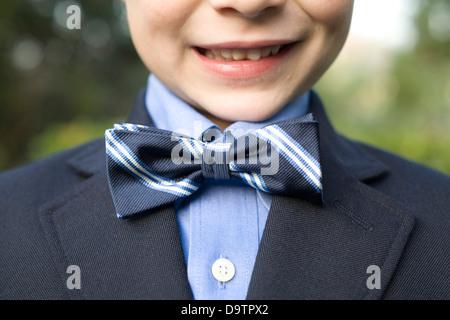 LOS ANGELES, CA – NOVEMBER 11: Boy with a bow tie in Los Angeles, California on November 11, 2007. - Stock Photo