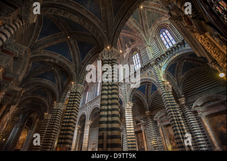 Interior of Siena Duomo, Tuscany, Italy - Stock Photo