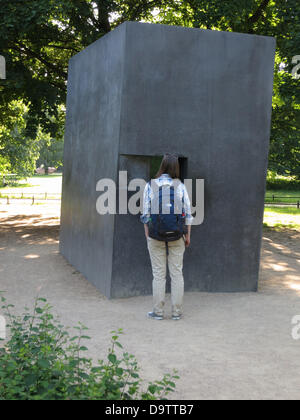 Memorial for homosexuells being persecuted and murdered by the Nazi regime - Stock Photo