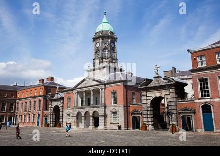 Upper yard and bedford tower of dublin castle;Dublin city county dublin ireland - Stock Photo