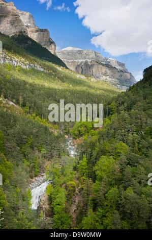 Ordesa Valley, Ordesa-Monte Perdido National Park, Pyrenees, Aragon, Spain - Stock Photo