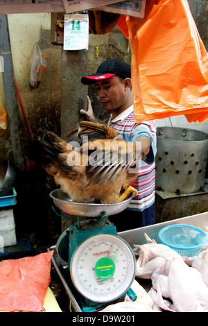 a man in a market - Stock Photo