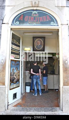 ginjinha bar Lisbon Portugal - Stock Photo