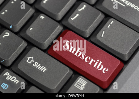 Subscribe on keyboard - Stock Photo