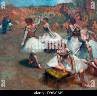 Dancers on stage - Danseuses sur la scene 1889 Edgar Degas 1834-1917 France - Stock Photo