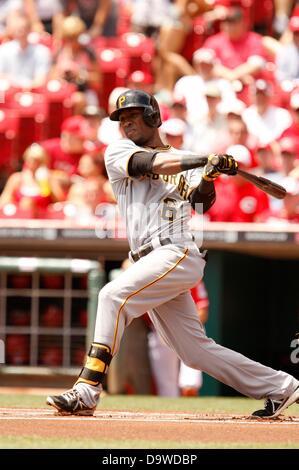 June 20, 2013 - Cincinnati, OH, United States of America - June 20, 2013 Cincinnati, OH..Pittsburgh Pirates outfielder - Stock Photo