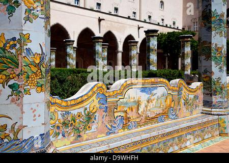 Monastero di Santa Chiara, Naples, Napoli, Campania, Italy, Italia - Stock Photo
