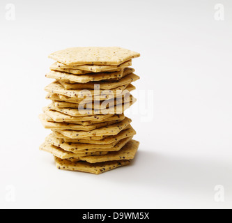 pile of crackers - Stock Photo