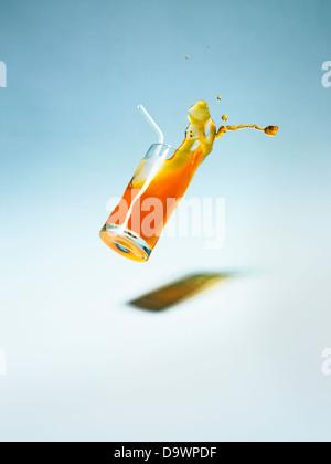 falling drink - Stock Photo
