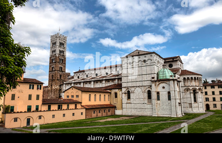 Dome of Lucca, Duomo di Lucca, in Tuscany, Italy - Stock Photo