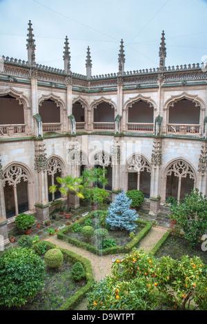TOLEDO - MARCH 8: Gothic atrium of Monasterio San Juan de los Reyes - Stock Photo