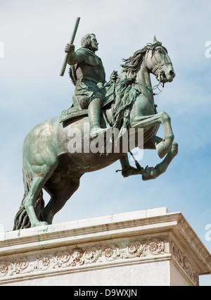 Madrid - Philip IV of Spain statue on the summit of memorial near opera