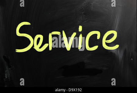 service handwritten with white chalk on a blackboard - Stock Photo