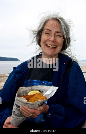 Fish and chips in newspaper stock photo royalty free for Fish customer service