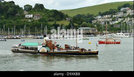 Paddle Steamer 'Kingswear Castle' at Dartmouth. Devon, UK -1 - Stock Photo