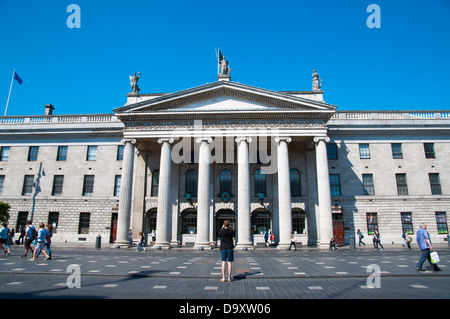 The General Post Office (1818) O'Connell street central Dublin Ireland Europe - Stock Photo