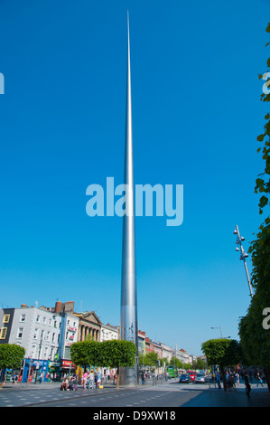 The Spire (2003) O'Connell street central Dublin Ireland Europe - Stock Photo