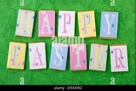 HAPPY EASTER CHOCOLATES - Stock Photo