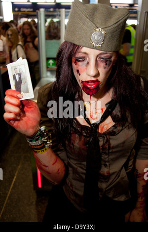 A Zombie at Stockholm Zombie Walk 2012 - Stock Photo