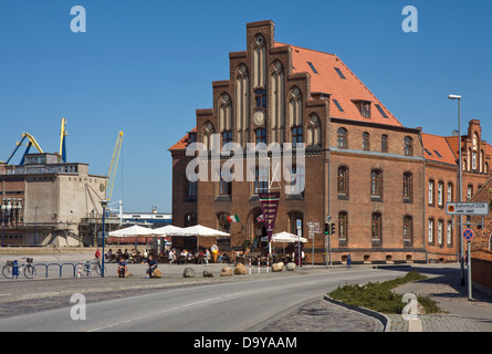 Europe, Germany, Mecklenburg-Western Pomerania, Wismar, the old port,Zollhaus - Stock Photo