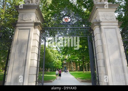 Princeton University, front gate - Stock Photo