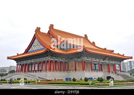 National theater Chiang Kai-shek memorial Taipei Taiwan - Stock Photo