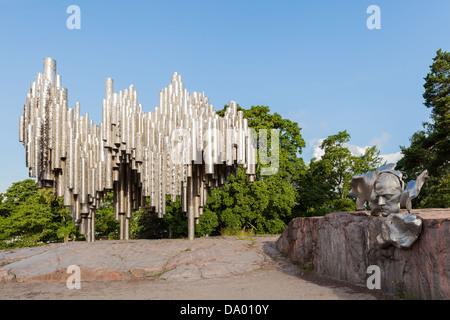 Sibelius monument in Helsinki, Finland - Stock Photo