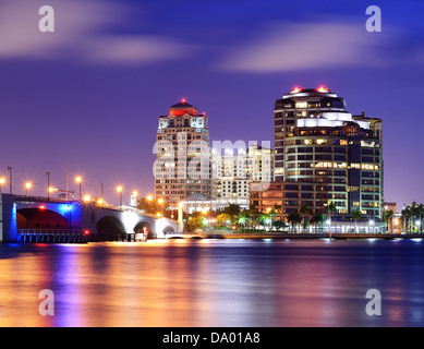 Skyline of West Palm Beach, Florida, USA. - Stock Photo