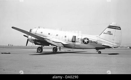 129th Air Resupply Squadron - Curtiss C-46D-15-CU Commando 44-77984 - Stock Photo