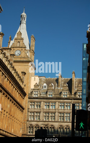 City centre buildings in Glasgow, Scotland - Stock Photo