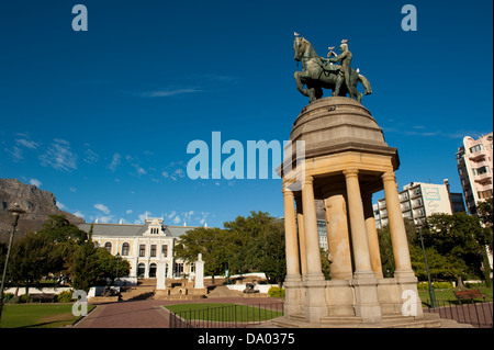 Delville Wood Memorial in front of the South African Museum,  The Company's Garden, Cape Town, South Africa - Stock Photo