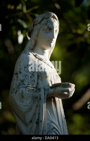 Fountain statue, The Company's Garden, Cape Town, South Africa - Stock Photo