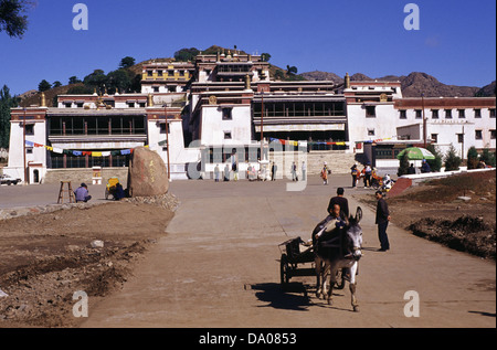 View of Wudangzhao Lamasery the largest and best-preserved Buddhist Tibetan Lamasery built in 1749 Located about - Stock Photo