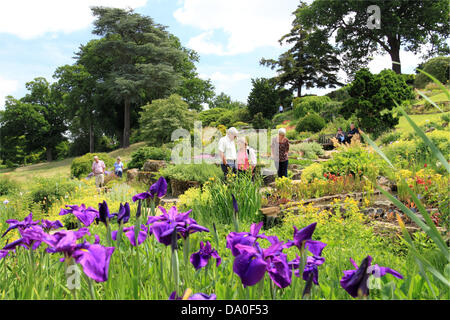 The Summer Rock Garden At Rhs Wisley Uk Stock Photo