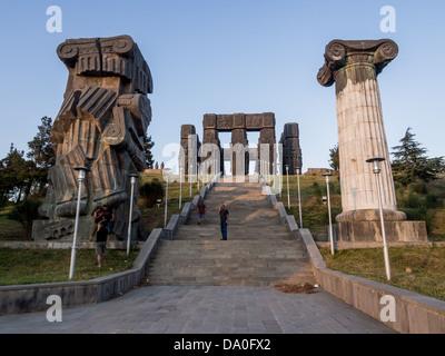 The Chronicle of Georgia (Stonehenge) in Tbilisi, Georgia. - Stock Photo